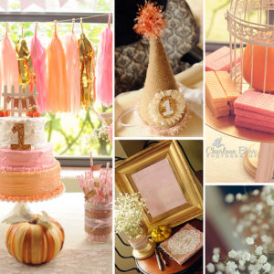 fall birthday party color palette